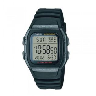 Casio W-96H-1BVDF Unisex Youth Digital Resin Watch W-96H-1BV