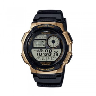 Casio AE-1000W-1A3VDF Men's Digital World Time Resin Watch AE-1000W-1A3V