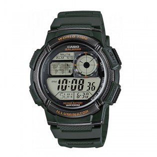 Casio AE-1000W-3AVDF Men's Digital World Time Resin Watch AE-1000W-3AV