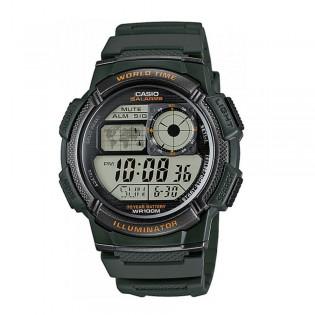 Casio AE-1000W-3AVDF Men's Digital World Time Resin Watch AE-1000W-3AV