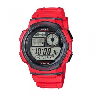 Casio AE-1000W-4AVDF Men's Digital World Time Resin Watch AE-1000W-4AV