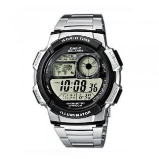 Casio AE-1000WD-1AVSDF Men's Digital World Time Steel Watch AE-1000WD-1AV