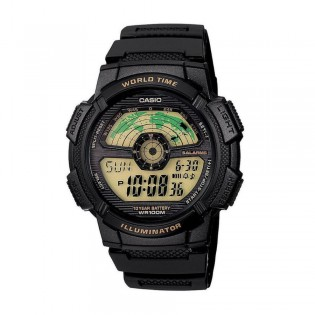 Casio AE-1100W-1BVSDF Men's Digital World Time Resin Watch AE-1100W-1BV