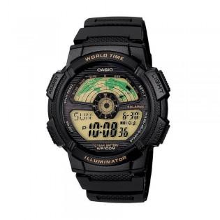 Casio AE-1100W-1BVSDF Men's Digital World Time Resin Watch AE-1100W-1BV