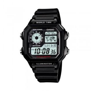 Casio AE-1200WH-1AVDF Men's Digital World Time Resin Watch AE-1200WH-1AV