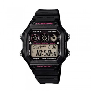 Casio AE-1300WH-1A2VDF Men's Digital Resin Watch AE-1300WH-1A2V