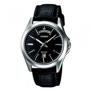 Casio MTP-1370L-1AVDF Men's Analog Day Date Leather Watch MTP-1370L-1AV