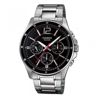 Casio MTP-1374D-1AVDF Men's Multifunction Day Date Steel Watch MTP-1374D-1AV