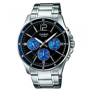 Casio MTP-1374D-2AVDF Men's Multifunction Day Date Steel Watch MTP-1374D-2AV