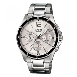 Casio MTP-1374D-7AVDF Men's Multifunction Day Date Steel Watch MTP-1374D-7AV
