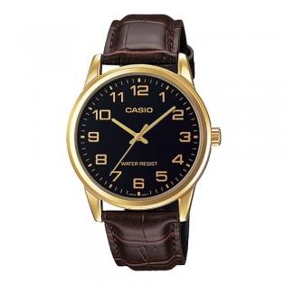 Casio MTP-V001GL-1BUDF Men's Analog Leather Watch MTP-V001GL-1B