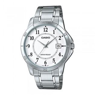 Casio MTP-V004D-7BUDF Men's Analog Date Steel Watch MTP-V004D-7B