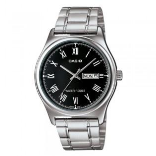Casio MTP-V006D-1BUDF Men's Analog Day Date Steel Watch MTP-V006D-1B
