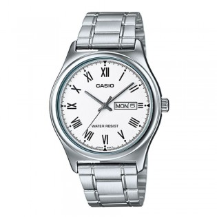 Casio MTP-V006D-7BUDF Men's Analog Day Date Steel Watch MTP-V006D-7B