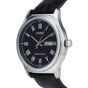 Casio MTP-V006L-1BUDF Men's Analog Day Date Leather Watch MTP-V006L-1B