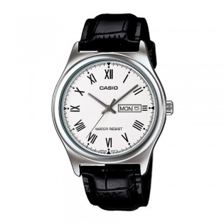 Casio MTP-V006L-7BUDF Men's Analog Day Date Leather Watch MTP-V006L-7B