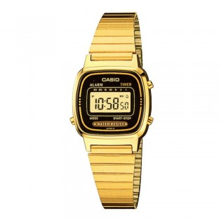 Casio LA670WGA-1DF Women's Vintage Digital Gold Steel Watch LA670WGA-1D