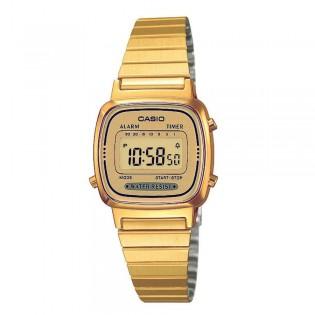 Casio LA670WGA-9DF Women's Vintage Digital Gold Steel Watch LA670WGA-9D
