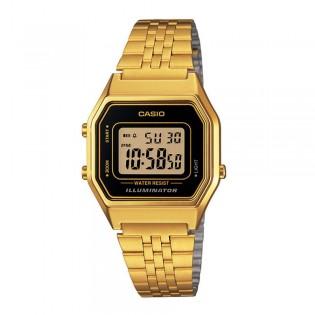 Casio LA680WGA-1DF Women's Vintage Digital Gold Steel Watch LA680WGA-1D