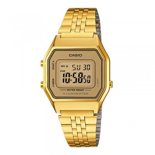 Casio LA680WGA-9DF Women's Vintage Digital Gold Steel Watch LA680WGA-9D