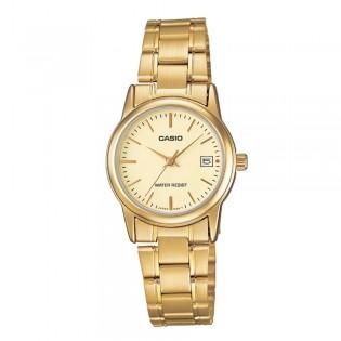 Casio LTP-V002G-9AUDF Women's Analog Date Gold Watch LTP-V002G-9A