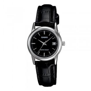 Casio LTP-V002L-1AUDF Women's Analog Date Leather Watch LTP-V002L-1A