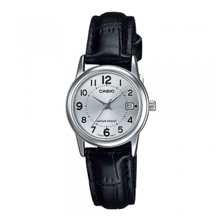 Casio LTP-V002L-7BUDF Women's Analog Date Leather Watch LTP-V002L-7B