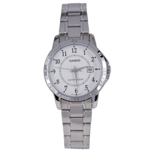 Casio LTP-V004D-7BUDF Women's Analog Date Steel Watch LTP-V004D-7B