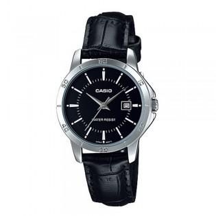 Casio LTP-V004L-1AUDF Women's Analog Date Leather Watch LTP-V004L-1A