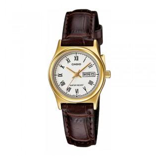 Casio LTP-V006GL-7BUDF Women's Analog Date Leather Watch LTP-V006GL-7B
