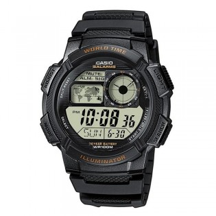Casio AE-1000W-1A3VDF Men's Digital World Time Resin Watch AE-1000W-1A3