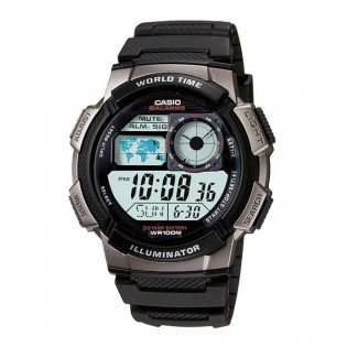 Casio AE-1000W-1BVSDF Men's Digital World Time Resin Watch AE-1000W-1BV