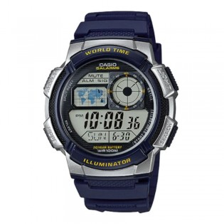 Casio AE-1000W-2AVDF Men's Digital World Time Resin Watch AE-1000W-2AV