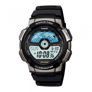 Casio AE-1100W-1AVSDF Men's Digital World Time Resin Watch AE-1100W-1AV