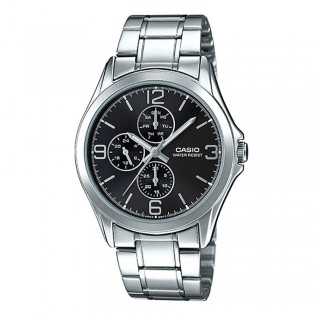 Casio MTP-V301D-1AUDF Men's Analog Day Date Steel Watch MTP-V301D-1A
