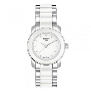 Tissot T064.210.22.011.00 Women's Cera Quartz White Ceramic Bracelet Watch