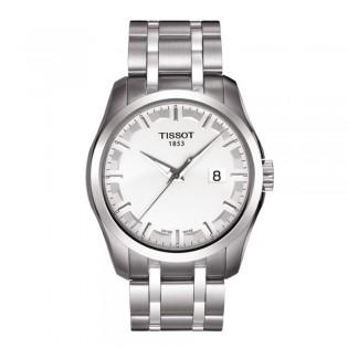Tissot T035.410.11.031.00 Men's Couturier Quartz Stainless Steel Watch (White)
