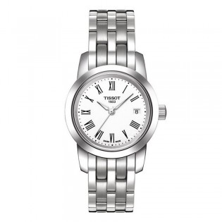 Tissot T033.210.11.013.00 Women's Classic Dream Quartz Stainless Steel Watch (White)