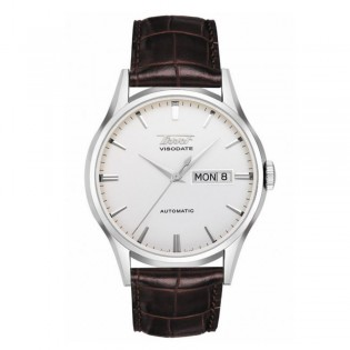 Tissot T019.430.16.031.01 Men's Heritage Visodate Automatic Day Date Leather Watch (White)