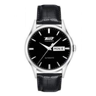 Tissot T019.430.16.051.01 Men's Heritage Visodate Automatic Day Date Leather Watch (Black)