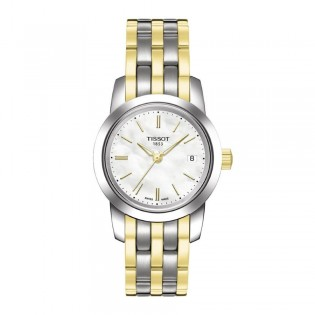 Tissot T033.210.22.111.00 Women's Classic Dream Quartz Stainless Steel Watch (White)