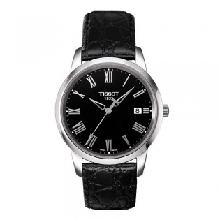 Tissot T033.410.16.053.01 Men's Classic Dream Quartz Leather Watch (Black)