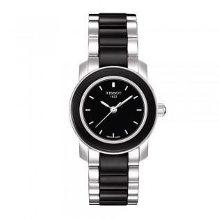 Tissot T064.210.22.051.00 Women's Cera Quartz Black Ceramic Bracelet Watch (Black)