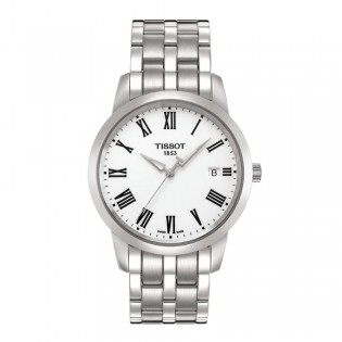 Tissot T033.410.11.013.01 Men's Classic Dream Quartz Steel Watch (White)