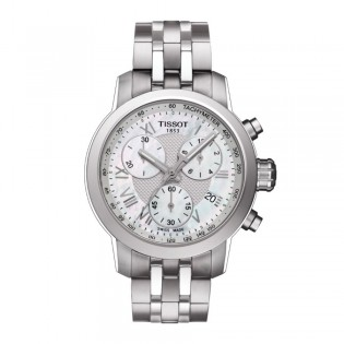Tissot T055.217.11.113.00 Women's PRC 200 Chronograph Steel Watch (Silver)