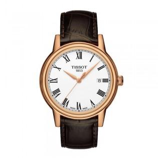 Tissot T085.410.36.013.00 Men's Carson Quartz Leather Watch (Rose Gold)