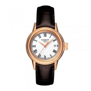 Tissot T085.210.36.013.00 Women's Carson Quartz Leather Watch (Rose Gold)