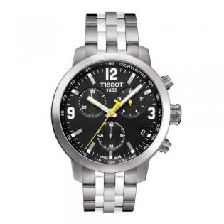 Tissot T055.417.11.057.00 Men's PRC 200 Chronograph Steel Watch (Black)