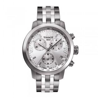Tissot T055.417.11.037.00 Men's PRC 200 Chronograph Steel Watch (Silver)