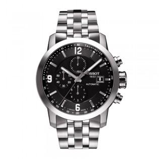 Tissot T055.427.11.057.00 Men's PRC 200 Automatic Chronograph Steel Watch (Black)